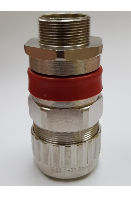 M32 Size C - Hawke ICG/653/UNIV/C/M32 Brass Nickel Plated Barrier Cable Gland