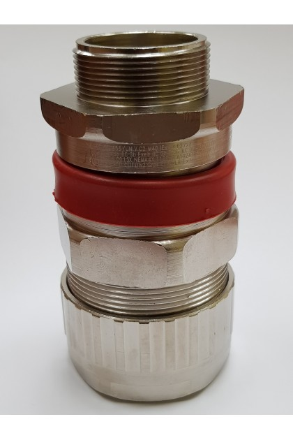M40 Size C2 - Hawke ICG/653/UNIV/C2/M40 Brass Nickel Plated Barrier Cable Gland