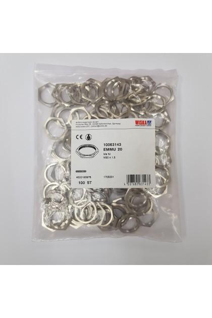Wiska M20 Lock Nut (100pcs per pkt)